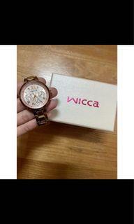 ✨9成新✨ 星辰 CITIZEN Wicca 玫瑰金時尚腕錶 BH7-521-11