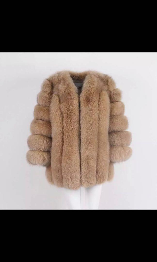 Beige/camel fur coat