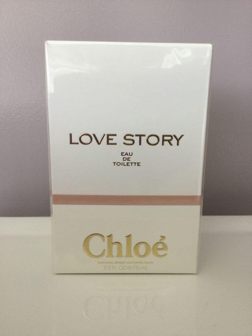 Chloé Love Story. EDT, 75 ml. Sealed in box.