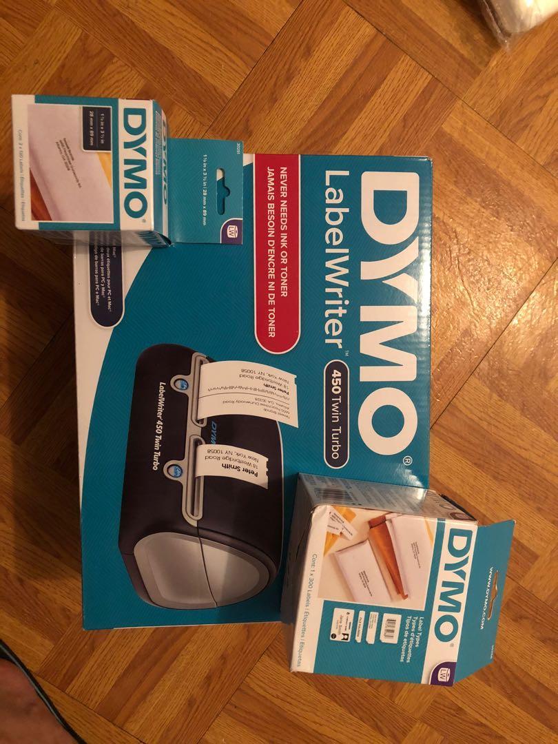 Dymo dual label printer + shipping labels
