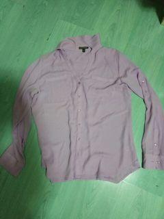 Express女裝紫色上衣/M碼/16吋肩寬