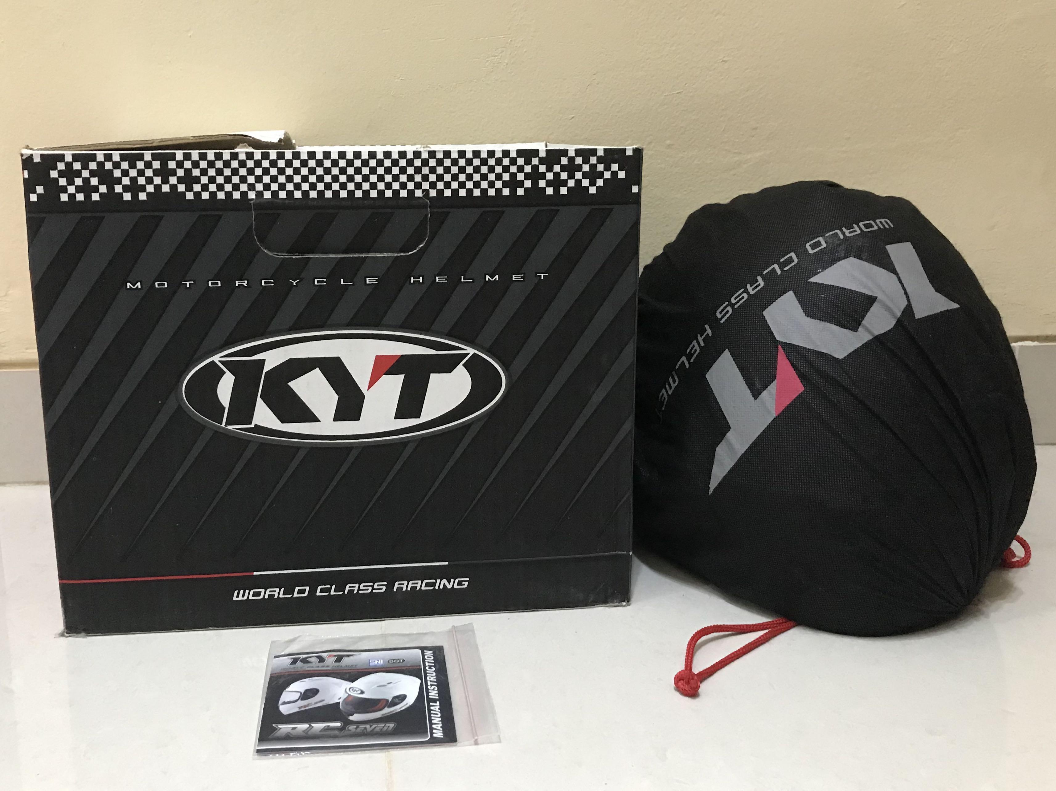 Helm Kyt RC seven (baru 3x pakai )