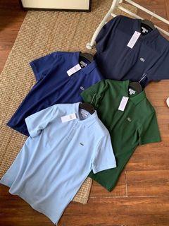 lacoste 經典素色短袖polo襯衫 多款顏色可選 純棉彈性 日常必備 襯衫 上衣 休閒 商務