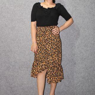 Leopard mermaid skirt