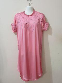 Mini dress pink satin