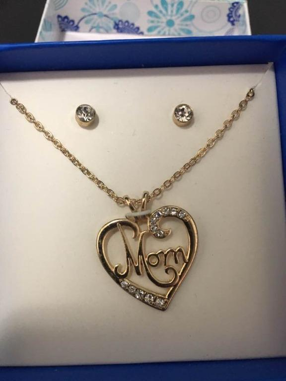 Mom Earrings & Pendant with Necklace Set