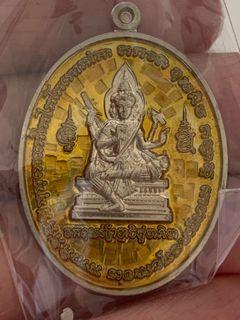 Phra Phrom LP Pong, Wat Jaeng BE 2561 Material: Alpaka