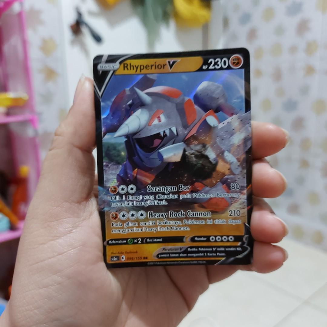 Pokemon Card set 7 A - RHYPERIOR V