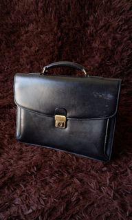 Porter Yoshida Vintage Leather Briefcase / Document / Attache / Laptop Bag for Men