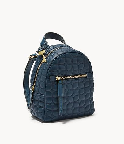 🔥Ready🔥Fossil Megan Mini Backpack Twilight Emboss