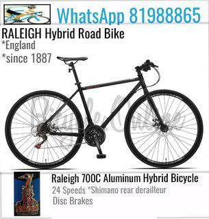 700C Aluminum Hybrid Road Bike ✩ 24Speeds (Shimano rear derailleur) ✩ Brand New RALEIGH Bicycle