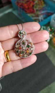 緬甸玉純銀項鍊/買都沒在戴,釋出。