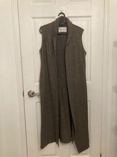 Aritzia Babaton long wool vest