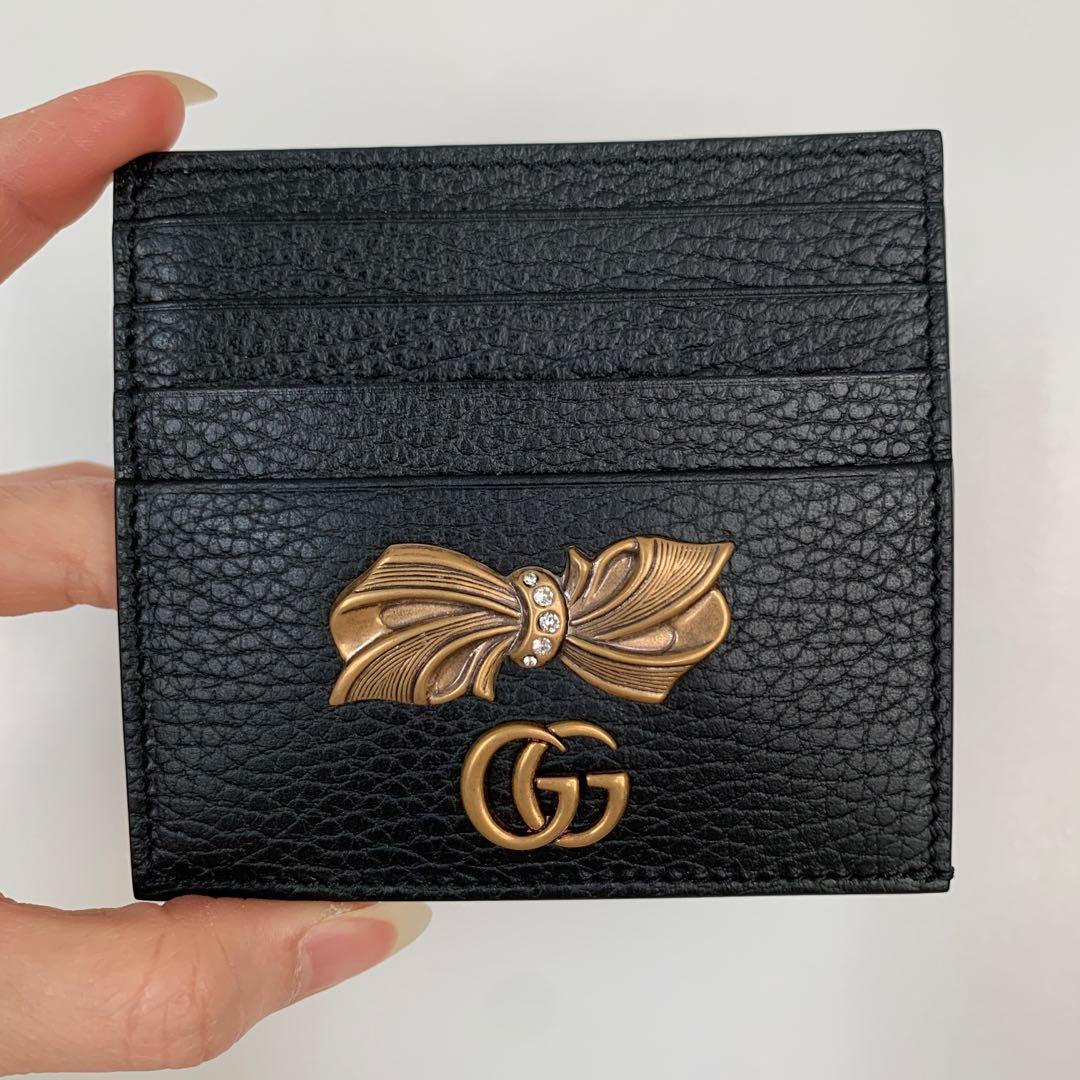 BNIB Authentic GUCCI Leather Card Case with Bow