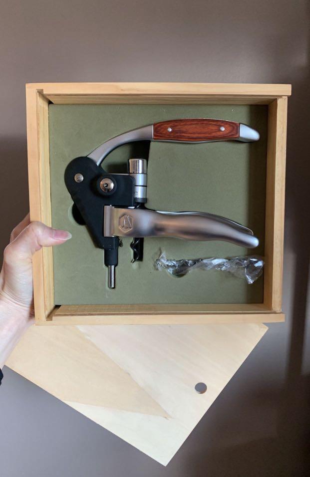 BNIB Laguiole Luxury Wine Bottle Lever Corkscrew Opener With Box