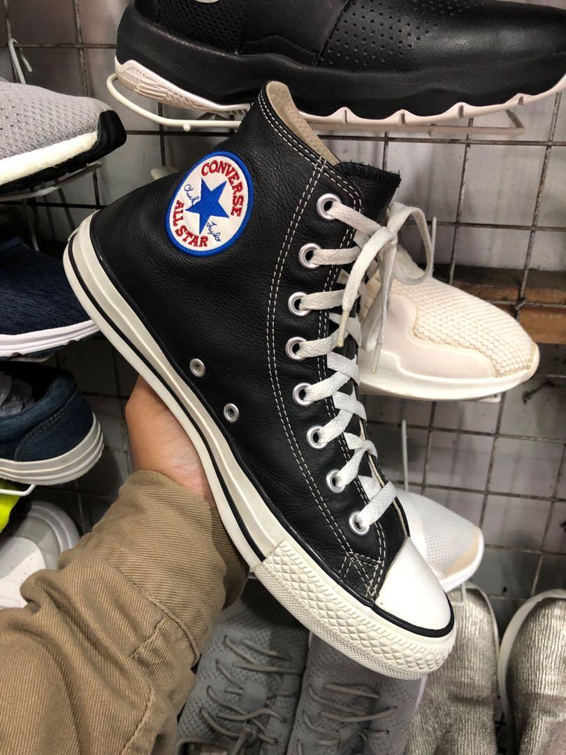 Converse 1s581 Chuck Taylor All Star Hi Leather Black(8 US M ...