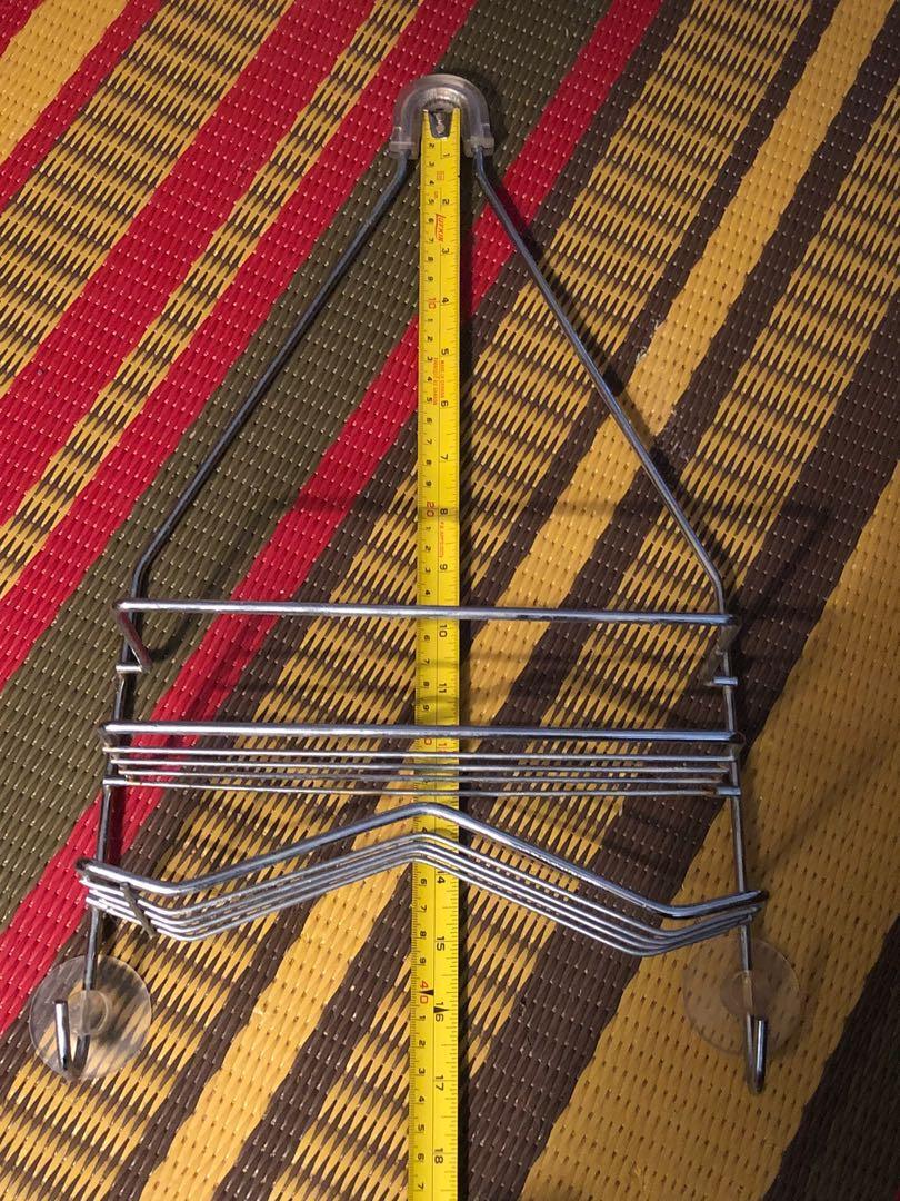 Deluxe metal hanging shower caddy