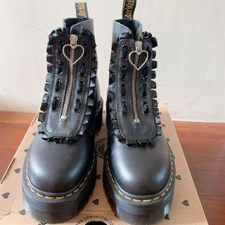 Dr.Martens x lazy oaf 聯名款限量 真皮厚底中筒靴