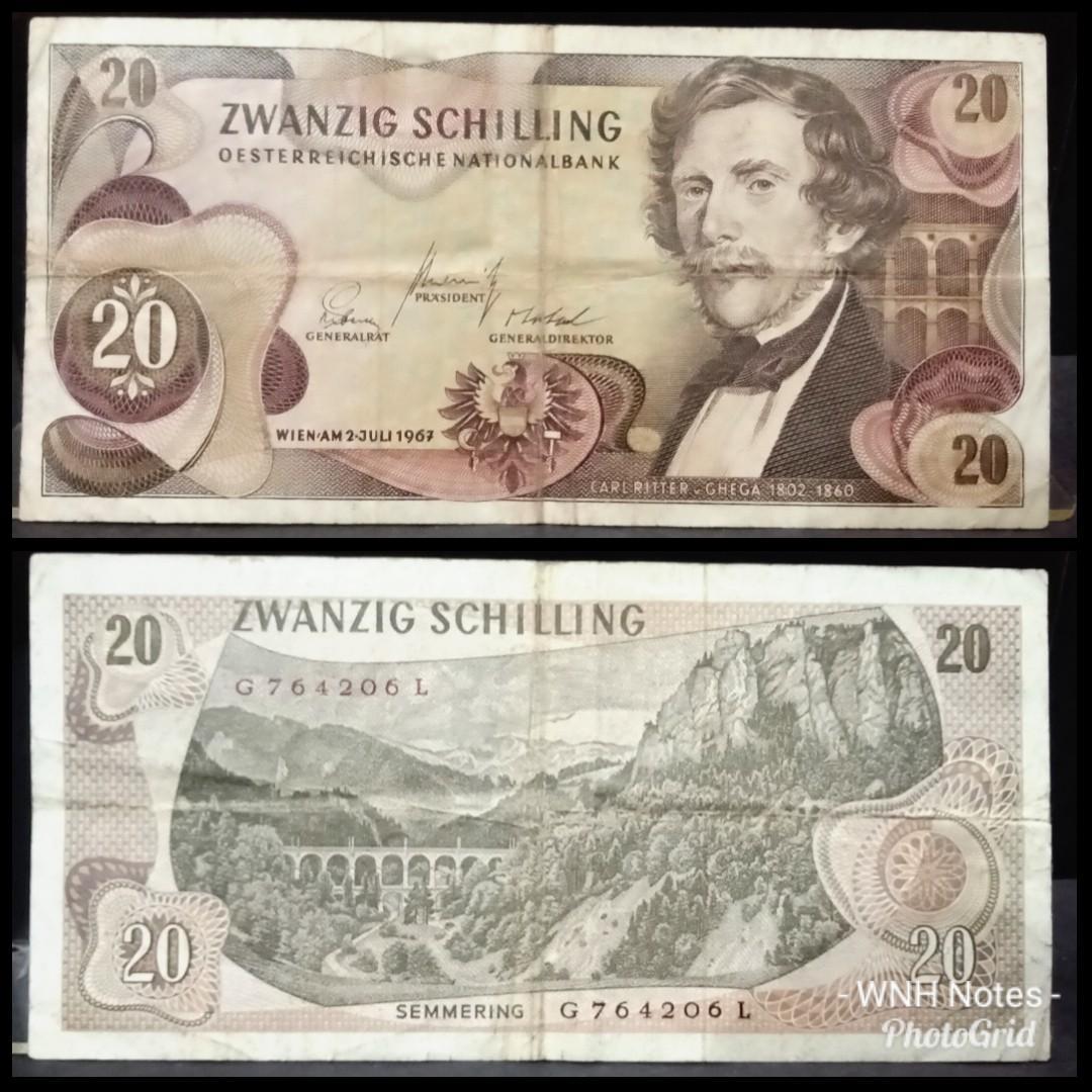 Duit Lama Austria 20 Schilling 1967