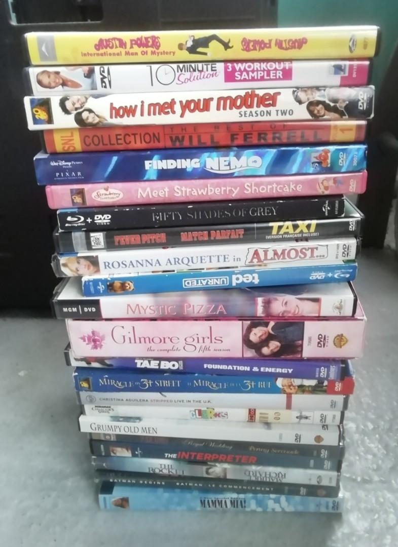 DVDs $2 each or 3 for $5