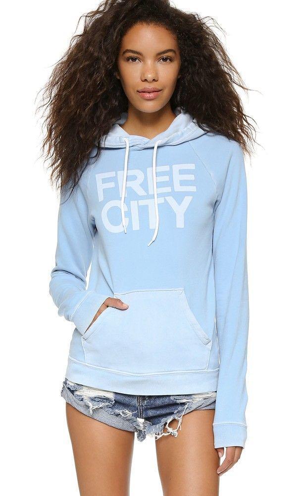 FREE CITY sky blue hoodie