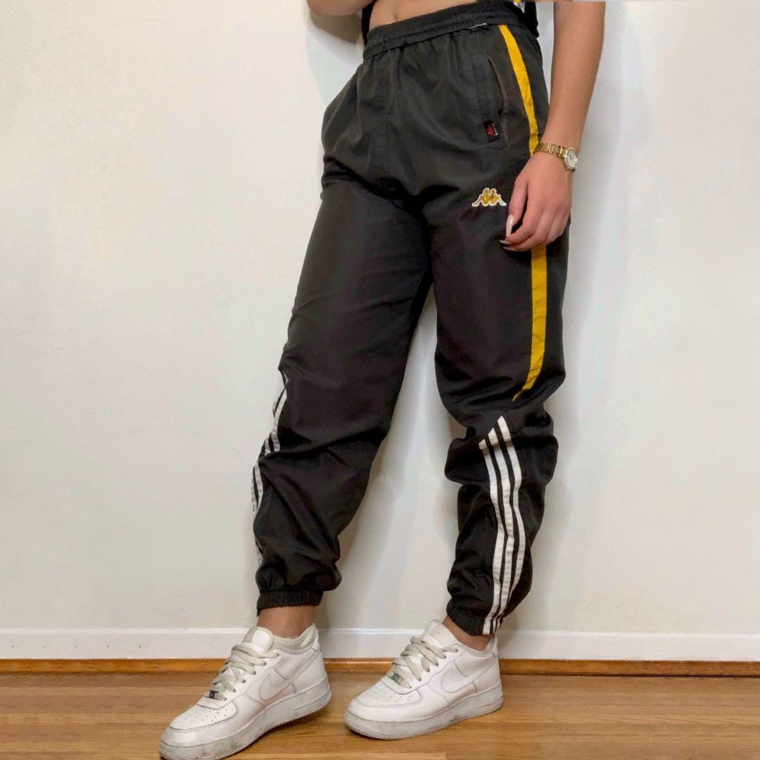 Grey and Yellow Kappa Trackpants