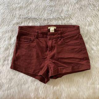H&m maroon shorts