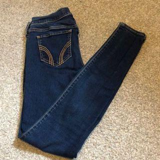 Hollister Navy Stretch Skinny Jeans