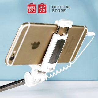 Miniso Selfie Stick Tongsis Tongkat Selfie Official Fashionable Japan Jepang Original Authentic Foto Fotografi Photo Photography Hp Hand Phone Camera White Putih Pink Green Hijau #bersihmar