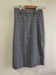 降價❗️Net灰色格紋格子半身裙