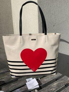 New with tags Kate Spade Heart Hallie Tote Bag