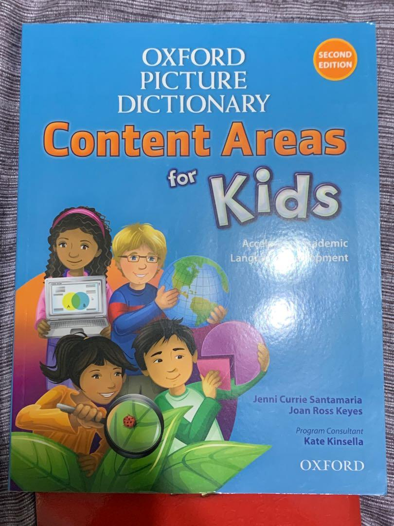 Oxford Picture Dictionary content areas for kid