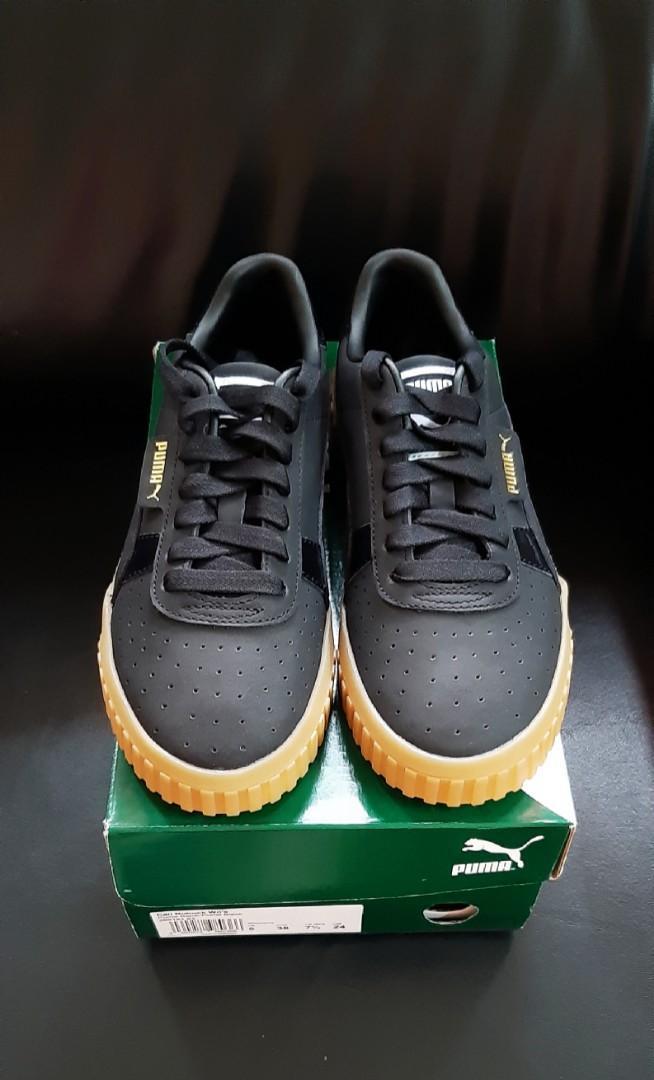 PUMA焦糖厚底休閒運動鞋~運動用品店購入,全新僅試穿  尺碼US7.5=24cm