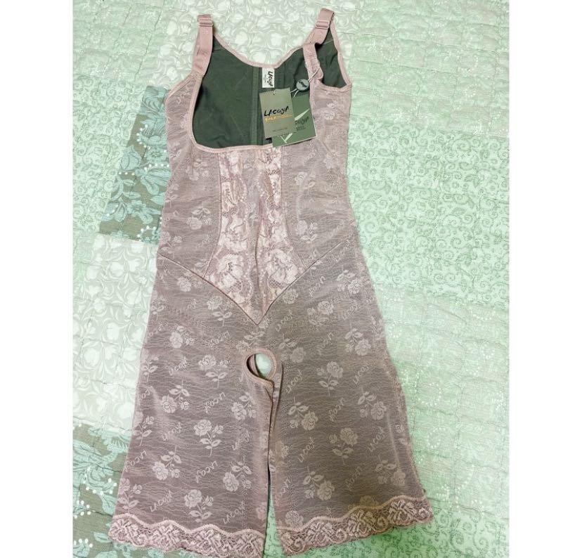 蕾絲連身束衣粉紫S全新