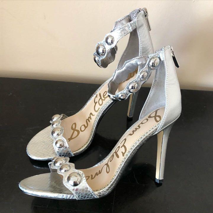 Sam Edelman Metallic Silver Sandals