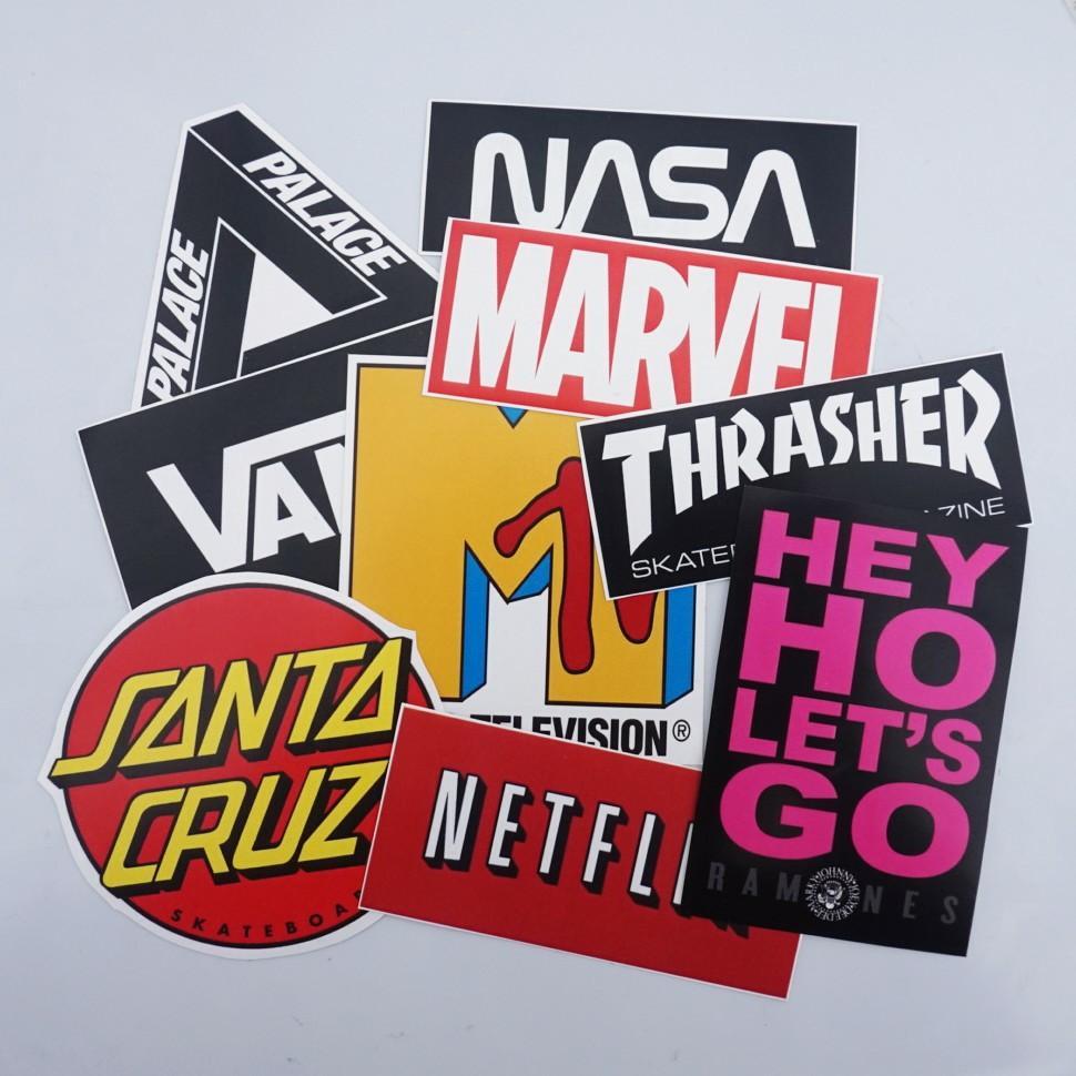 Sticker Pack Hypebeast (Netflix, Vans, NASA, Marvel, etc)