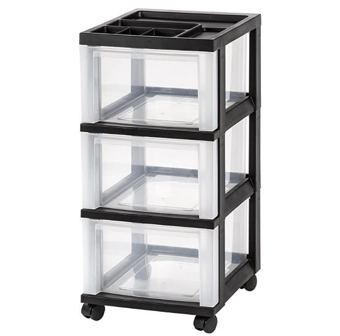 Storage Cart with Organizer Top