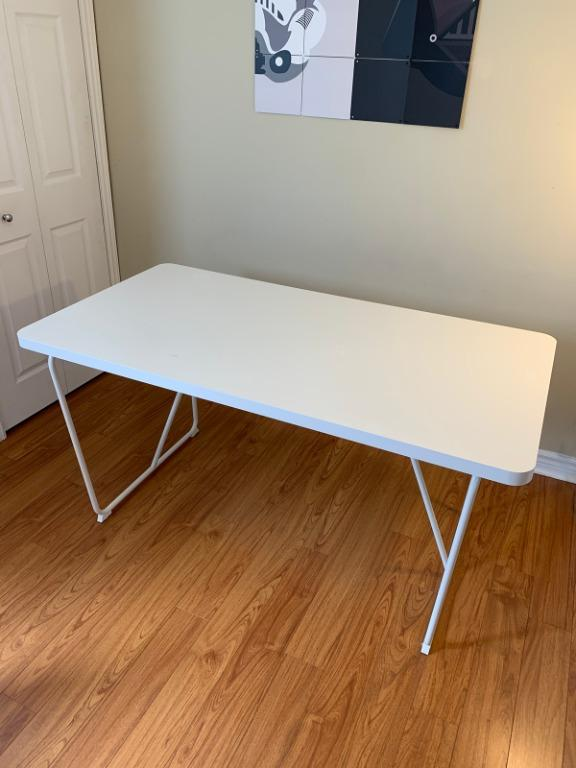 Sturdy White Dining Kitchen Table