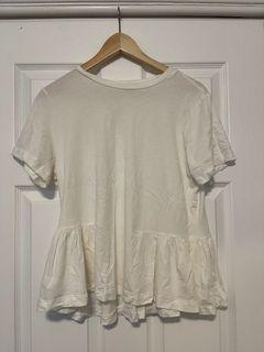 Sunday's best white flowy shirt