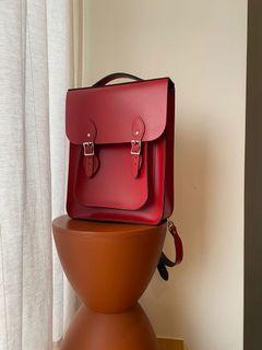 The Leather Satchel Co. 英國劍橋包 真牛皮後背包書包 已絕版
