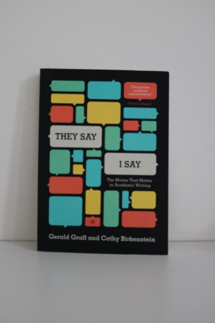Used They Say I Say: Moves That Matter In Academic Writing 3rd Edition
