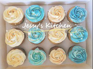 Vanilla Cupcakes with Buttercream