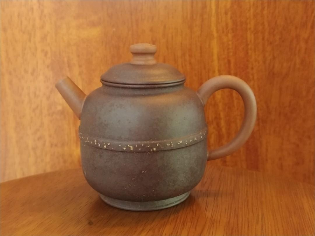 Vintage Purple Clay Teapot