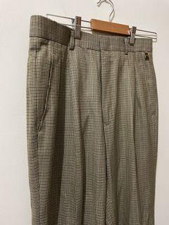 客訂❗️Wolsey 古著千鳥格格紋格子寬褲西裝褲
