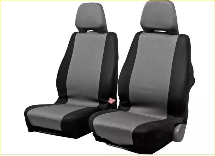 4 Piece Front Row NeoSupreme Car Seat Covers (Black/Grey)
