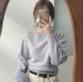 全新淺藍針織毛衣