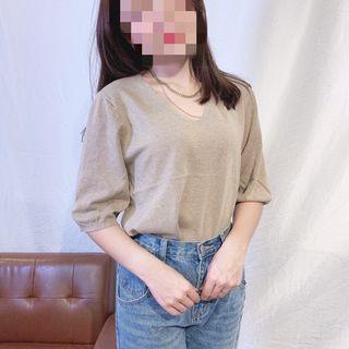 ✨全新韓版包芯紗五分袖上衣✨