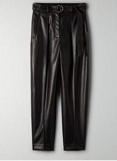 Aritzia vegan leather trousers size 6