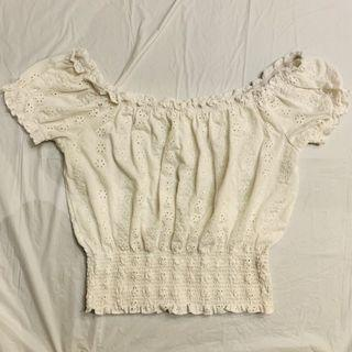 Cute crop top white size small