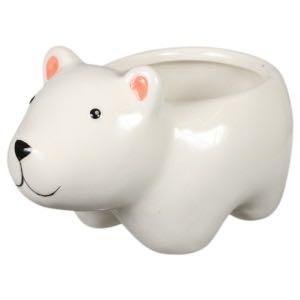Cute polar bear planter ceramic pot